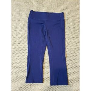 New Balance Yoga Pants Scallop Edge Waist Cropped